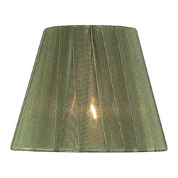Lite Source - Pleated Chandelier Shade in Green (5 in. Dia.) - Size: 5 in. Dia.. 5 in. Shade:. Top: 3 in. Dia.. Bottom: 5 in. Dia.. Height: 4 in.. 6 in. Shade:. Top: 3 in. Dia.. Bottom: 6 in. Dia.. Height: 5 in.