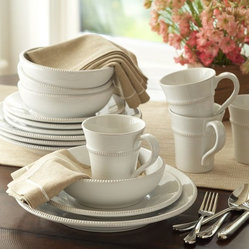 Gabriella 16-Piece Dinnerware Set, White