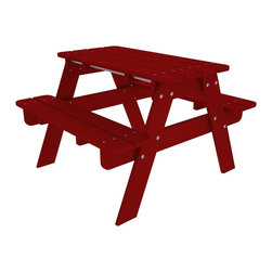 Children's Recycled Plastic Picnic Table - Th perfect child sized table for crafts, tea parties, and all their favorite outdoor activities.