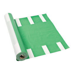 Football Field Tablecloth Roll - This football-themed tablecloth is vinyl so your cleanup will be easy. After all, there's a game to watch!