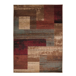 "Surya - Surya Contemporary Riley Multi Color 7'10""x10'10"" Rectangle Area Rug - Both a bold zig-zag pattern and traditional organic pattern define the rugs in the Riley collection from Surya. While the zig zag pattern is a modern take on the traditional southwest style  the floral pattern of classic style is given a fresh perspective  combining it with geometric sections of different background colors. The Neural browns  tans and grays are delightfully balanced with a pop of cinnamon spice for added interest.  Each rug is machine made in Turkey from 1% polypropylene."