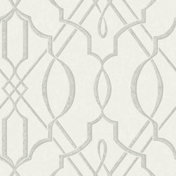 Walls Republic - Arabesque Design Wallpaper, Dove, Double Roll - The pattern is influenced by traditional Arabesque design with contemporary twists. With its neutral colour palette, it can be matched with almost any pieces of furniture.