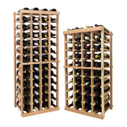 Wine Cellar Innovations - 4 Columns Individual; Vintner: Premium Redwood, Light Stain, 4 Ft - Each wine bottle stored on this four column individual bottle wine rack is cradled on customized rails that are carefully manufactured with beveled ends and rounded edges to ensure wine labels will not tear when the bottles are removed. Purchase two to stack on top of each other to maximize the height of your wine storage. Moldings and platforms sold separately. Assembly required.