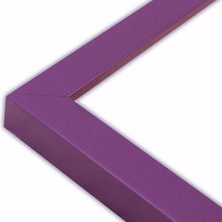 The Frame Guys - Narrow Flat Purple Picture Frame-Solid Wood, 11x14 - *Narrow Flat Purple Picture Frame-Solid Wood, 11x14