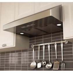 """Zephyr - Gust Series AK7136AS 36"""" Canopy Pro Style Under-Cabinet European Pro Range Hood - The Gust series European-style pro-looking range hood will be an ideal hood for any kitchen Its perfectly curved corners and beautiful stainless steel finish will liven up the appearance of any kitchen The Gust pro under cabinet hood features 2 x 50W..."""
