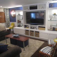 Traditional Basement by Your Favorite Room By Cathy Zaeske