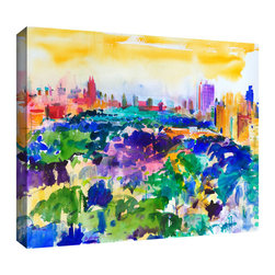 ArtWall - Art Wall Peter Graham 'Central Park,New York,2011' Gallery-wrapped Canvas Art - Artist: Peter GrahamTitle: Central Park,New York,2011Product type: Gallery-wrapped canvas