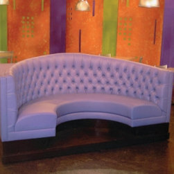 Booths and Banquettes - This booth was fabricated for the set of The Phantom Gourmet in Boston.