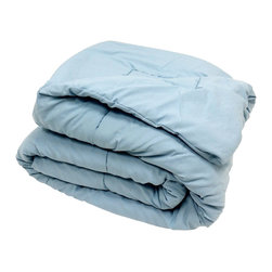 Bedding Web Store - Oversized Down Alternative Comforter 90 GSM-Blue - High Quality Oversized Down Alternative Comforter Super-Soft 90 GSM