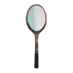 PinkPianos - Oval Tennis Racket Mirror, The Oxford - These mirrors are new fun renewed vintage design made from classic vintage tennis rackets with oval mirrors. I appreciate minimal and modern design and I think this mirror marries the past and the present in an interesting way.