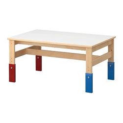 IKEA of Sweden - SANSAD Children's table - Children's table, pine blue, red