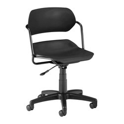 "OFM - OFM Martisa Armless Swivel Chair with Black Frame in Black - OFM - Office Chairs - 200BLKBLK - It's stylish flexibility with OFM's 200 Martisa Series Task Chair. Choose from a variety of seat and frame color combinations for this contemporary design. Users get easy positioning with the gas lift seat height adjustment and the contoured polypropylene seat and back. The seat swivels a full 360 degrees. The 16-gauge tubular steel frame and 25"" black 5-star wheeled base add stability. Weight capacity up to 250 lbs."
