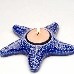 ATD - 5.25 Inch Blue and White Starfish Design Tea Light Candle Holder - This gorgeous 5.25 Inch Blue and White Starfish Design Tea Light Candle Holder has the finest details and highest quality you will find anywhere! 5.25 Inch Blue and White Starfish Design Tea Light Candle Holder is truly remarkable.