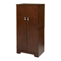 Linon - Victoria Jewelry Armoire - Dimensions:   13 x 19 x 40 inches
