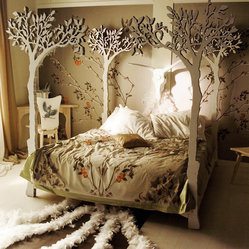 Under the Apple Tree Canopy Bed by LummeDesigns