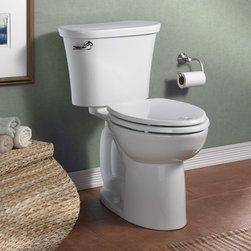 American Standard Triumph Cadet 3 Right Height Elongated Toilet - Smarter design for higher performance and fewer clogs – all at a great price. The Cadet® 3 series toilets come in a variety of styles; one piece and two piece models, elongated and round front bowls, right height and compact versions and even water efficient models that flush on just 1.28 gallons per flush. The Cadet 3 is a hard working versatile series with superior performance.