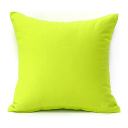 "Blooming Home Decor - Solid Lime Green Accent / Throw Pillow Cover - (Available in 16""x16"", 18""x18"", 20""x20"", 24""x24"", 26""x26"", 12""x20"", 20""x54"")"