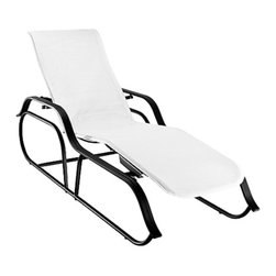 Homecrest - Homecrest Palisade Self-Adjusting Sling Chaise Lounge - 7E201-05-BOSSA NOVA - Shop for Chaise Lounges from Hayneedle.com! You're about to find out if furniture can get jealous when you abandon your indoor pieces for the outdoor comfort of the Homecrest Palisade Self-Adjusting Sling Chaise Lounge. You won't be back inside for some time when you can stretch out on the self-adjusting frame of this unique and no-nonsense piece. Designed to withstand years of outdoor use the frame combines extruded steel with rust-proof aluminum that can be covered in your choice of appealing finishes. You'll get just the right fit and support with the self-adjusting seat and it will always fit into your decor when you customize it by choosing from several complementary fabric options. It's going to be a long summer so you'd better get comfy.About Homecrest:The Homecrest brand was founded in 1953 as the offspring of a retail furniture shop in Wadena Minnesota when Mert Bottemiller and Al Engelmann set out to offer the market a better ottoman than those offered by their competitors. This venture soon led to their first line of patio furniture and in 1956 Bottemiller patented the swivel rocker mechanism that is still a central part of the products they produce today from their plant in Minnesota. For almost 60 years the Homecrest brand has been the go-to name for quality outdoor furniture when customers want a sophisticated versatile style that complements their interior decor and expands their lifestyles outside.