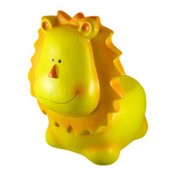 Adorable Plastic Lion Childs Chair Stool - This adorable hard plastic lion child`s chair really brightens up a room. The yellow lion, with orange accents, measures 16 inches tall (the seat is 7 1/2 inches high), 16 inches long and 12 inches wide. The stool is a great addition to your child`s bedroom, and makes a great gift for animal lovers.