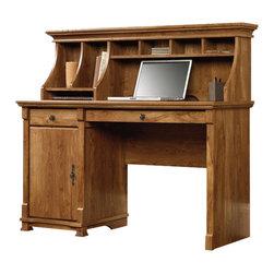 Sauder - Sauder French Mills Computer Desk with Hutch in American Chestnut - Sauder - Computer Desks - 413664413684PKG