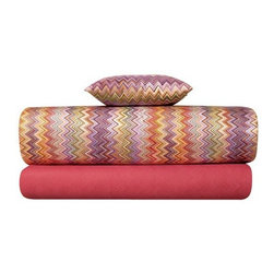 Missoni Home - Missoni Home | John Pink Flat Sheet - Design by Rosita Missoni.