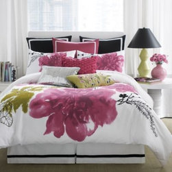 Anthology - Anthology Blossom Comforter Set - Breathe new life into your bedroom with the fresh and beautiful Blossom comforter set. A painterly floral design is printed in watercolors on a pristine white ground that brings the dreamy atmosphere of a tranquil spring day into your home.