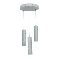 Joshua Marshal - Acrylic Rain 3 Light Multi Light Pendant - Acrylic Rain 3 Light Multi Light Pendant
