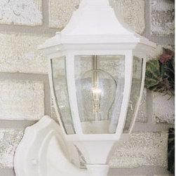 "Designers Fountain - Designers Fountain 2462-WH 1 Light 7"" Cast Aluminum Wall Lantern - Features:"