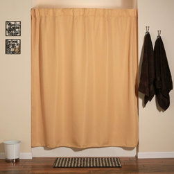 Other Brands - Aulaea Infinity Collection Curtain and Liner Set - ICSUNCO - Shop for Shower Curtains from Hayneedle.com! The Creative-Curtain is an integrated shower curtain system designed to alleviate frustrations related to the care and use of shower curtains their liners and conventional shower curtain hooks. Conveniently able to be laundered separately or all at once the Creative-Curtain system features a set of sleek durable hooks sewn into a luxurious 100% polyester shower curtain. Because the hooks are sewn into the curtain and all parts of the system are suited for machine-washing and tumble-drying the entire system may be removed laundered and reinstalled quickly and easily. The Creative-Curtain is compatible with any standard liner. Curtain in Sunrise color.