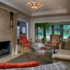 Traditional Living Room by Epic Development