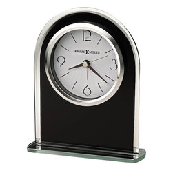 Howard Miller - Howard Miller Ebony Luster Table Desk Clock in Black and Silver - Howard Miller - Mantel / Table Clocks - 645702 - For over 70 years, Howard Miller has understood the need to create products that are steeped in quality and value and to never expect anything less than the best. No matter the price of the purchase, you have Howard Miller's assurance of quality that is reflected in both the products they create, and in the people whose artistic talents they rely on to manufacture them. Incomparable workmanship. Unsurpassed quality. A quest for perfection.