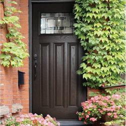 Woodgrain Fiberglass Doors - 3/0 x 6/8 Woodgrain Series: Craftsman w/ Solstice Doorlite ---
