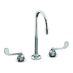KOHLER - KOHLER K-7304-5A-CP Triton Widespread Lavatory Faucet - KOHLER K-7304-5A-CP Triton Widespread Lavatory Faucet with Wristblade Lever Handles, Less Drain and Lift Rod in Chrome