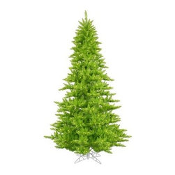 Vickerman Lime Fir Pre-lit Christmas Tree - The Vickerman Lime Fir Pre-lit Christmas Tree is a crisp lime green fir tree that boasts a variety of features to make your holiday special. The tree features PVC tips with hinged branch construction, as well as an on/off foot pedal switch for your convenience.Specifications for 12-foot tree Shape: Medium Base Width: 82 inches Number of Bulbs: 1650 Number of Tips: 4631Specifications for 10-foot tree Shape: Medium Base Width: 68 inches Number of Bulbs: 1150 Number of Tips: 2980Specifications for 9-foot tree Shape: Medium Base Width: 64 inches Number of Bulbs: 1000 Number of Tips: 2326Specifications for 7.5-foot tree Shape: Medium Base Width: 52 inches Number of Bulbs: 750 Number of Tips: 1634Specifications for 6.5-foot tree Shape: Medium Base Width: 46 inches Number of Bulbs: 600 Number of Tips: 1216Specifications for 5.5-foot tree Shape: Medium Base Width: 34 inches Number of Bulbs: 400 Number of Tips: 794Specifications for 4.5-foot tree Shape: Medium Base Width: 34 inches Number of Bulbs: 250 Number of Tips: 525 Specifications for 3-foot tree Shape: Medium Base Width: 25 inches Number of Bulbs: 100 Number of Tips: 234Don't Forget to Fluff!Simply start at the top and work in a spiral motion down the tree. For best results, you'll want to start from the inside and work out, making sure to touch every branch, positioning them up and down in a variety of ways, checking for any open spaces as you go.As you work your way down, the spiral motion will ensure that you won't have any gaps. And by touching every branch you'll create the desired full, natural look.About VickermanThis product is proudly made by Vickerman a leader in high quality holiday decor. Founded in 1940, the Vickerman Company has established itself as an innovative company dedicated to exceeding the expectations of their customers. With a wide variety of remarkably realistic looking foliage, greenery and beautiful trees, Vickerman is a name you can trust for hel