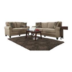 Serta by True Innovations - Serta Copenhagen 2 Piece Sofa Set in Vanity Fabric - Serta by True Innovations - Sofa Sets - CR4353143536PKG