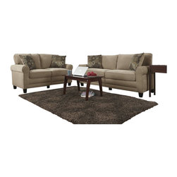 Serta by True Innovations - Serta Copenhagen 2 Piece Sofa Set in Vanity Fabric - Serta by True Innovations - Sofa Sets - CR4353143536PKG