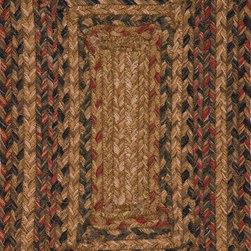 """Hudson Jute Braided Rugs HBR07 Rug - 2'3""""x3'9""""Oval - These braided jute rugs are both durable and rich in color and style."""