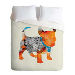 DENY Designs - Iveta Abolina Puppy Frenchie Duvet Cover - Turn your basic, boring down comforter into the super stylish focal point of your bedroom. Our Luxe Duvet is made from a heavy-weight luxurious woven polyester with a 50% cotton/50% polyester cream bottom. It also includes a hidden zipper with interior corner ties to secure your comforter. it's comfy, fade-resistant, and custom printed for each and every customer.