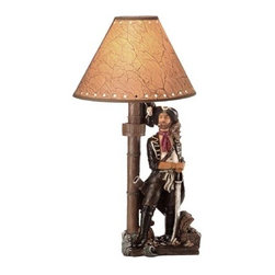 "Pirate Lamp - The pirate lamp is available in size 20""H. It features a pirate with his hands on his sword guarding his treasure chest. It will add a definite nautical touch to wherever it is placed and is a must have for those who appreciate high quality nautical decor. It makes a great gift, impressive decoration and will be admired by all those who love the sea."