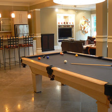 Traditional Basement by Robin LaMonte/Rooms Revamped