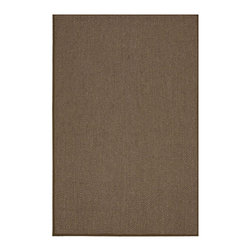 "Calvin Klein Home - Calvin Klein Home CK207 Kerala CKS03 2'6"" x 4'2"" Chocolate Area Rug 15067 - In deep walnut hues reminiscent of the earth, a story of color and striking style meets substance in this understated sisal rug. Made from the agave plant this eco-friendly, marvelously-textured rug is about both ease and timelessness."