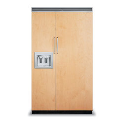 "Viking 48"" Built-in Side By Side Refrigerator, Custom Panel 