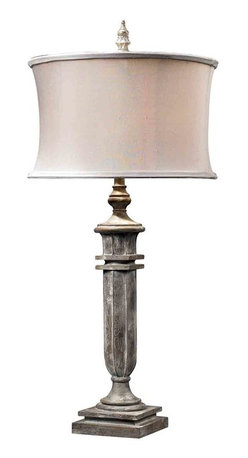 Dimond Lighting - Dimond Lighting 93-10020 O'Neil Restoration Grey Table Lamp - Dimond Lighting 93-10020 O'Neil Restoration Grey Table Lamp