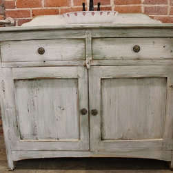 Rustic White Bathroom Vanity - Reclaimed wood Bathroom Vanities are beautifully classic and durable pieces. These pieces can be customized to look sleek or rustic but always are casually elegant. www.lakeandmountainhome.com 978-505-3222