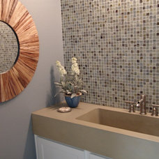 modern powder room by redu interior design