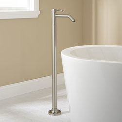 Caol Freestanding Tub Faucet - With its straight-forward, minimalist design, the Caol Freestanding Tub Faucet makes a suitable complement to a modern tub.