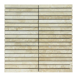 STONE TILE US - Stonetileus 10 pieces (10 Sq.ft) of Mosaic Highway White Honed-Filled - STONE TILE US - Mosaic Tile - Highway - White - Honed/Filled Coverage: 1 Sq.ft size:  - 1 Sq.ft/Sheet Sheet mount:Meshed back Stone tiles have natural variations therefore color may vary between tiles. This tile contains mixture of white - light brown - and color movement expectation of low variation, The beauty of this natural stone Mosaic comes with the convenience of high quality and easy installation advantage. This tile has Honed-Filled surface, and this makes them ideal for walls, kitchen, bathroom, outdoor, Sheets are curved on all four sides, allowing them to fit together to produce a seamless surface area. Recommended use: Indoor - Outdoor - High traffic - Low traffic - Recommended areas: Highway - White - Honed/Filled tile ideal for walls, kitchen, bathroom,Free shipping.. Set of 10 pieces, Covers 10 sq.ft.