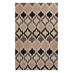 Jaipur Rugs - Moroccan Pattern Polyester Taupe/Gray Indoor-Outdoor Area Rug ( 2x3 ) - These Catalina rugs will add a pop to any outdoor space with its rich inspiration from Moroccan trellis and tile patterns.