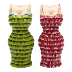 """ATD - 3.5 Inch """"Cocktail Cuties"""" Green/Pink Dresses Salt and Pepper Shaker - This gorgeous 3.5 Inch """"Cocktail Cuties"""" Green/Pink Dresses Salt and Pepper Shaker has the finest details and highest quality you will find anywhere! 3.5 Inch """"Cocktail Cuties"""" Green/Pink Dresses Salt and Pepper Shaker is truly remarkable."""