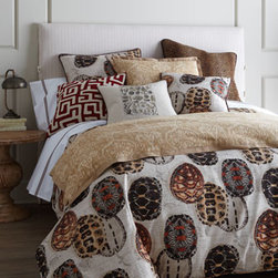 French Laundry Home - French Laundry Home Standard Tortoise Sham - These intriguing bed linens are just as perfect for a guest room as they are for a kid's room. From French Laundry Home. Dry clean. All imported unless otherwise stated below. Linens printed with tortoise shells are linen/cotton blend. Duvet covers hav...